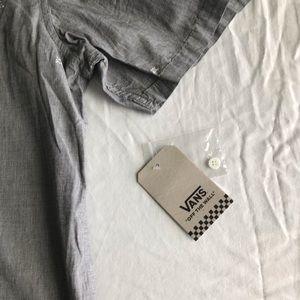 Vans Shirts - Vans shirt sleeve button down shirt grey
